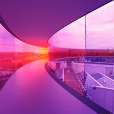 Olafur Eliasson, Your rainbow panorama, 2006-2011. Installation. ARoS Arhus Kunstmuseum, Denmark. Courtesy of the artist.