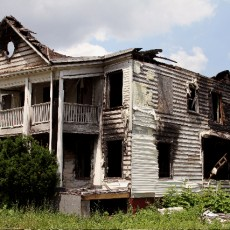 house burned