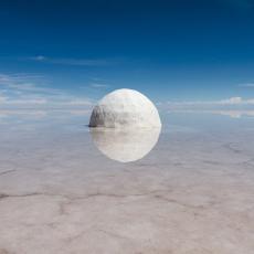 Elina, 2015, sel, eau, 300cm de diamètre, projet-Elina 2013-2015