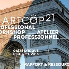 ArtCOP21 Atelier professionnel Rapport et ressources