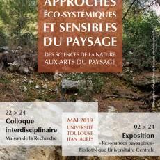 Affiche colloque écologie paysage 22-24 mai